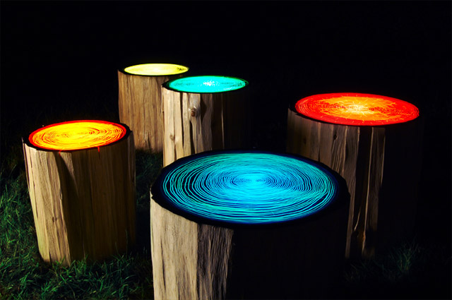 Readymades Tree Rings By Straight Line Designs