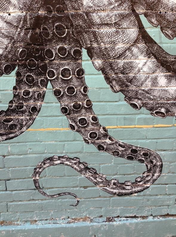 Elephant octopus mural