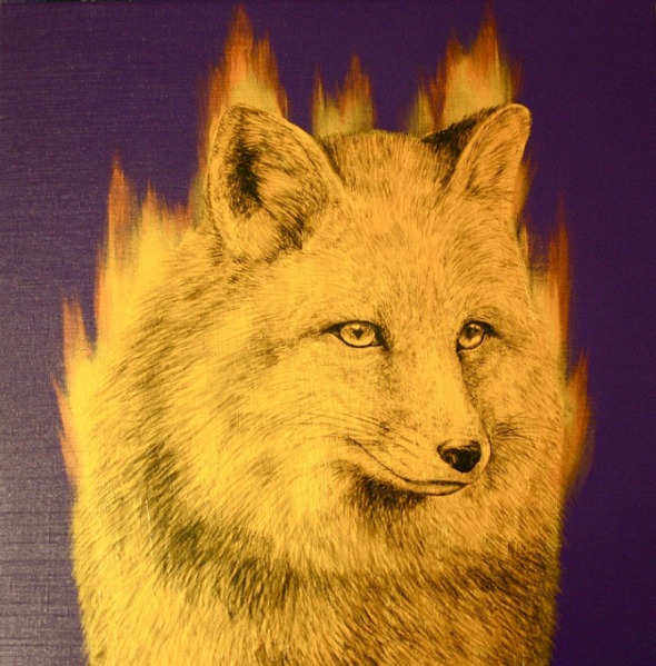 Louise McNaught - Icon - Fire Fox